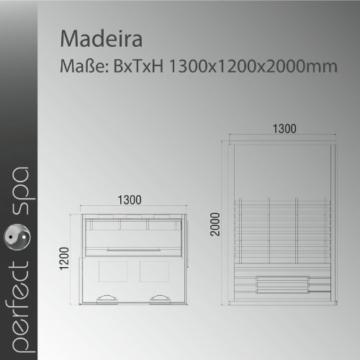 Infrarotkabine Madeira Maße
