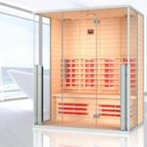 """Infrarotkabine """"Marbella"""" Infrarot Sauna für bis zu 3 Personen Wärmekabine Infrarotsauna"""